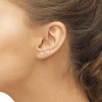 close up of woman beautiful naked ear